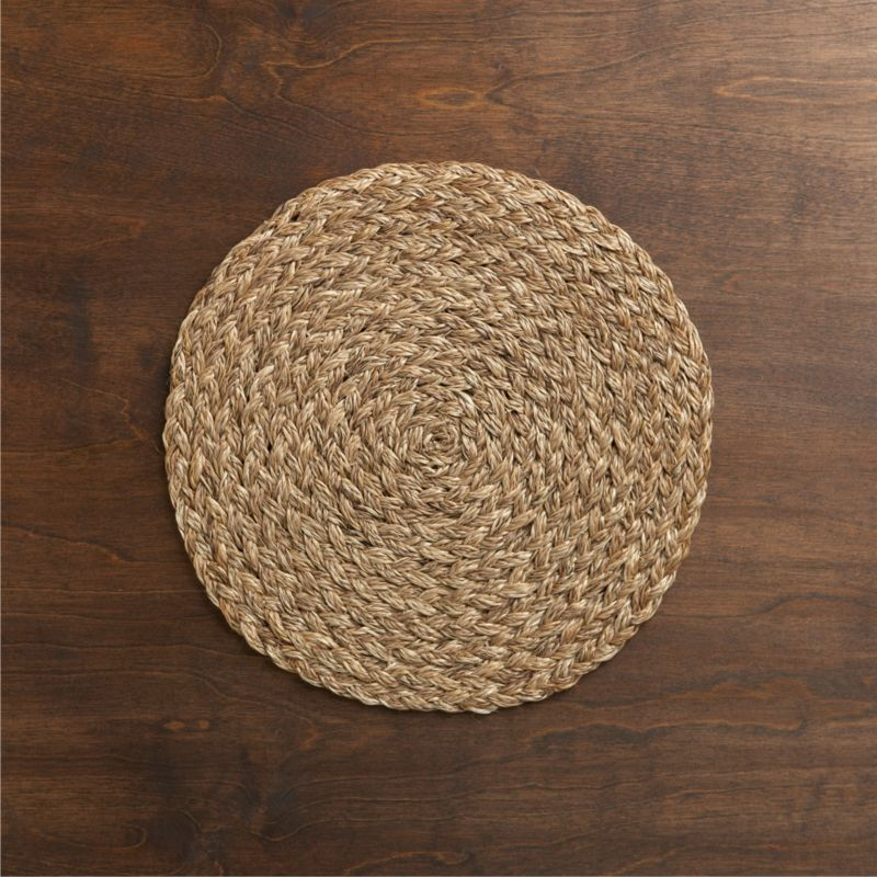 Bali Dark Woven Round Placemat Crate And Barrel