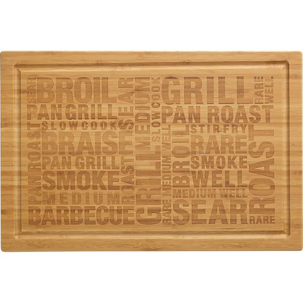 Bamboo Barbecue Cutting-Serving Board