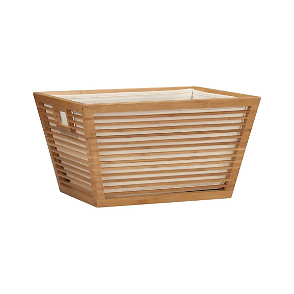 Large Bamboo Basket with Liner