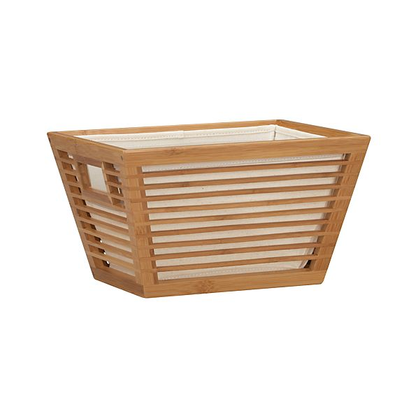 Small Bamboo Storage Tote with Liner