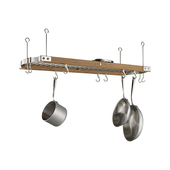 Large Bamboo Ceiling Pot Rack