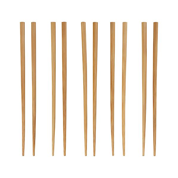 Set of 5 Bamboo Chopsticks