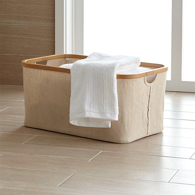 Large Bamboo-Jute Basket