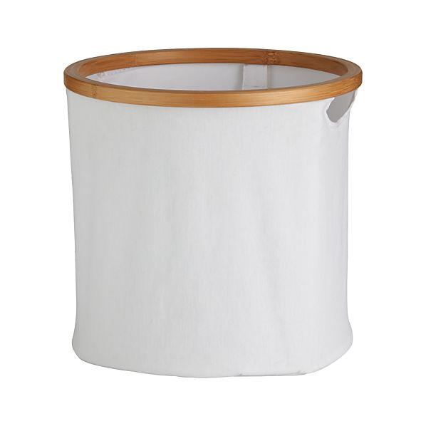 White Bamboo Large Round Tote