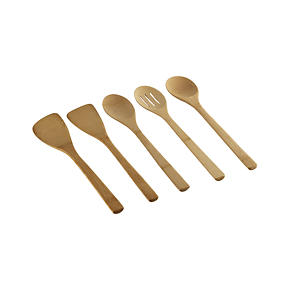 5-Piece Bamboo Utensil Set - 5-Piece Set:...