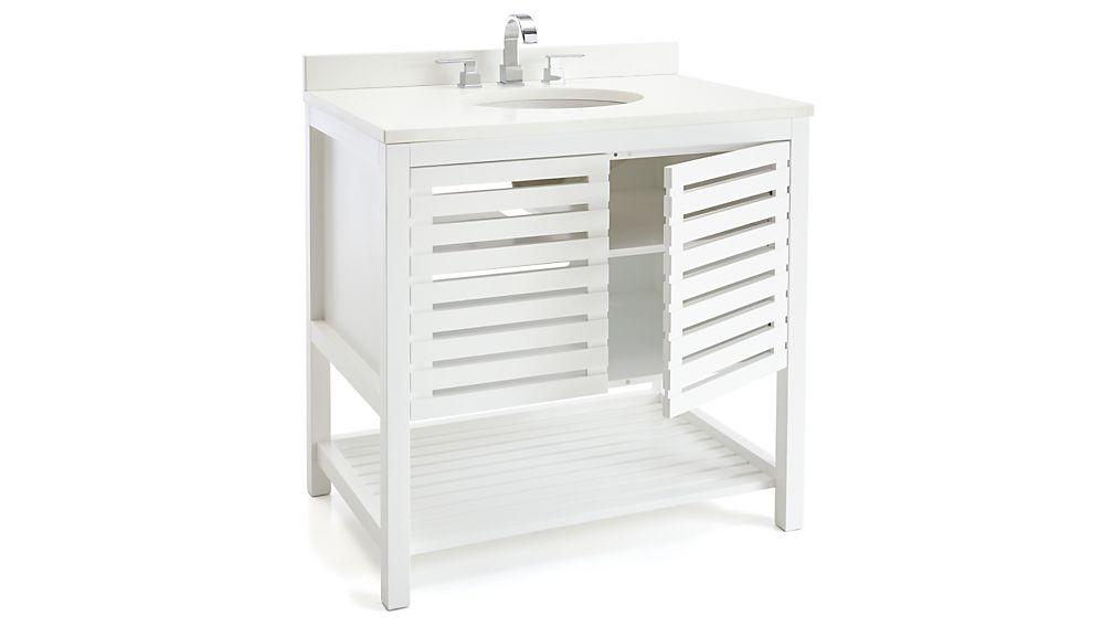 Crate and barrel bathroom
