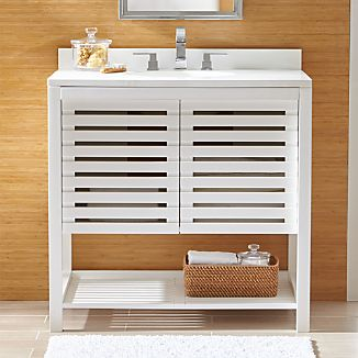 Banya white bathroom vanities and sinks crate and barrel - Crate and barrel bathroom vanities ...