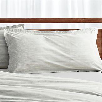 Barcelos King Green Striped Pillow Sham