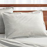 Barcelos Standard Green Striped Pillow Sham