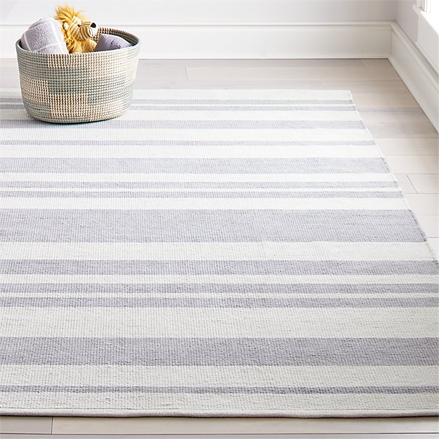 Barcode Grey Striped Rug Crate And Barrel