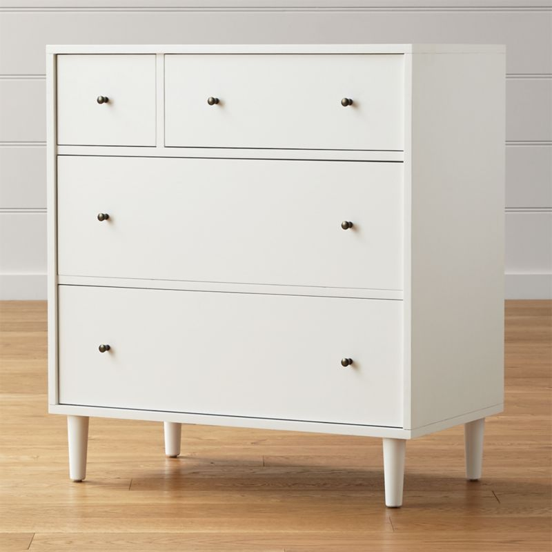 Barnes White 4-Drawer Chest | Crate and Barrel
