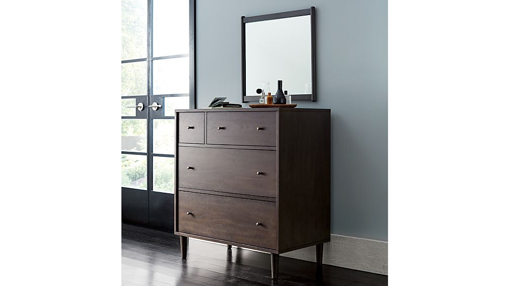 Barnes Smoke Brown 4-Drawer Chest