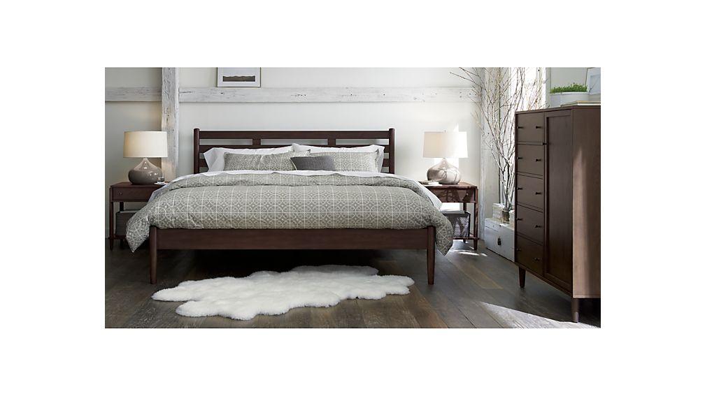 Barnes Smoke Brown Queen Bed