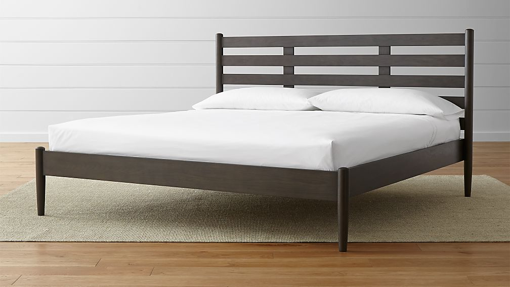 Barnes Smoke Brown California King Bed | Crate and Barrel