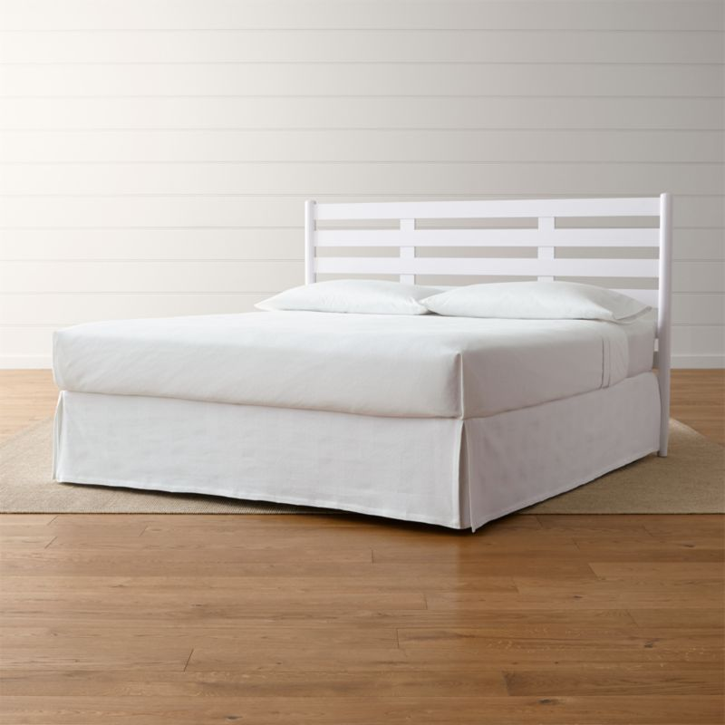 Barnes White King Headboard