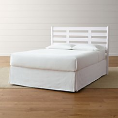 Barnes White Queen Headboard
