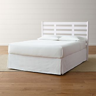 Barnes White Full Headboard