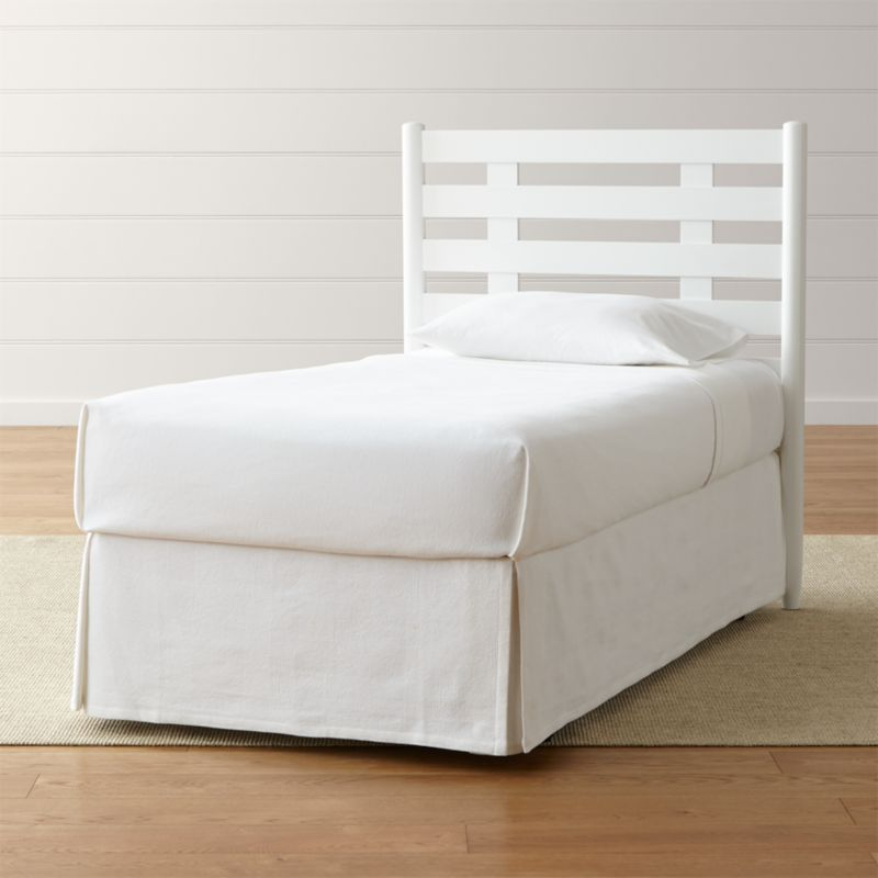 Barnes White Twin Headboard