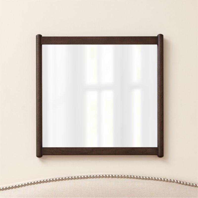 Barnes Smoke Brown Rectangular Wall Mirror