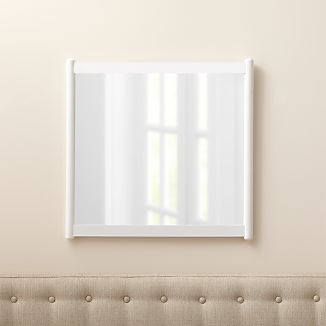 Barnes White Rectangular Wall Mirror