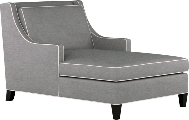 Contemporary looks borrow confidently from the classics in the Barrington with its low, wide look, distinctive lines, ample cushions and cool grey color outlined with contrasting taupe welting. The slim styling of the sloping track arms with makes the most of seating space. Stylish comfort, scaled for a city apartment or smaller room.<br /><br />After you place your order, we will send a fabric swatch via next day air for your final approval. We will contact you to verify both your receipt and approval of the fabric swatch before finalizing your order.<br /><br /><NEWTAG/><ul><li>Eco-friendly construction</li><li>Certified sustainable, kiln-dried hardwood frame</li><li>Seat cushion is soy-based polyfoam with feather-down blend wrap in downproof ticking</li><li>Back cushion is soy-based polyfoam with fiber wrapped in downproof ticking</li><li>Sinuous wire spring suspension</li><li>100% polyester fabric</li><li>Solid maple, mocha stained legs</li><li>Benchmade</li><li>See additional frame options below</li><li>Made in North Carolina, USA of domestic and imported materials</li></ul>