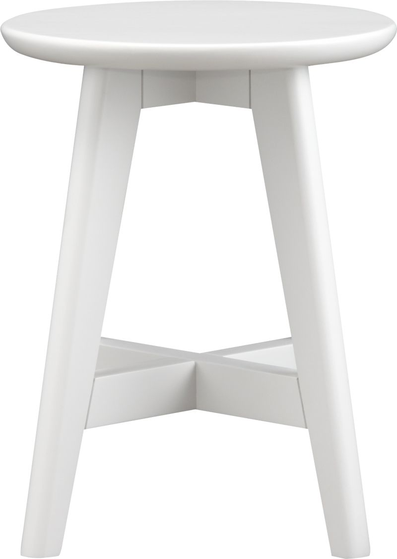 Our classic, versatile stool takes a clean and simple stance in solid painted rubberwood and provides an extra perch for smaller spaces, bath, vanity or porch. Crossbar brace makes a comfortable footrest.<br /><br /><NEWTAG/><ul><li>Solid rubberwood</li><li>Lacquer finish</li><li>Made in Thailand</li></ul>