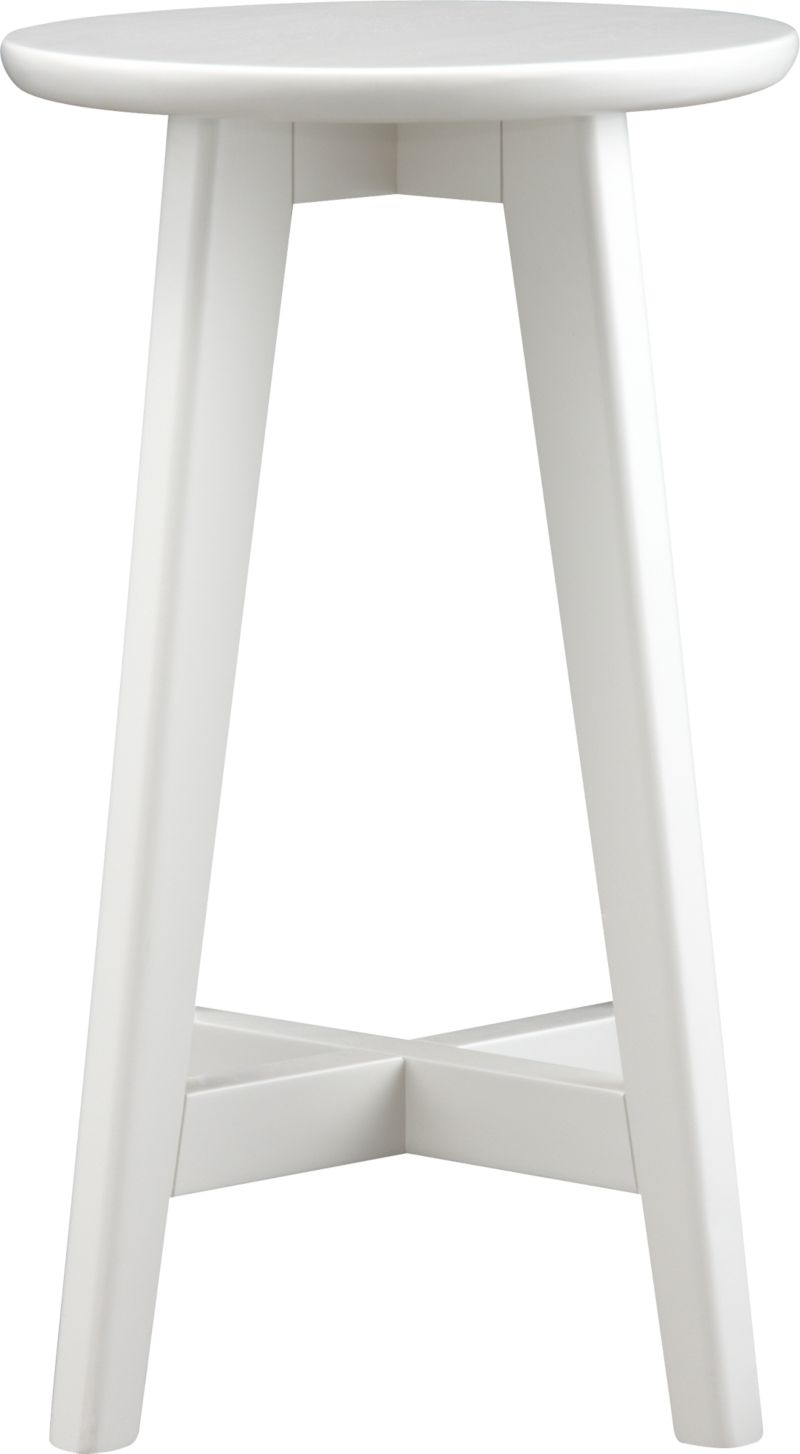 Our classic, versatile stool takes a clean and simple stance in solid painted rubberwood with a clear lacquer finish and provides seating sized right for counters. Crossbar brace makes a comfortable footrest.<br /><br /><NEWTAG/><ul><li>Solid rubberwood</li><li>Lacquer finish</li><li>Made in Thailand</li></ul>
