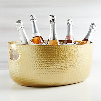 Bash Beverage Tub with Brushed Gold Finish