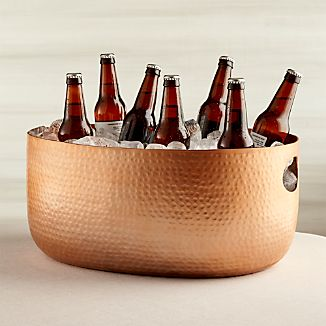 Bash Beverage Tub with Copper Finish