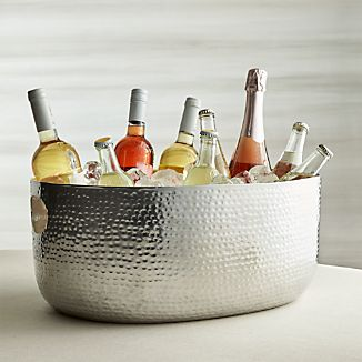 Bash Silver Beverage Tub