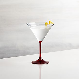 Red Stem Martini Glass