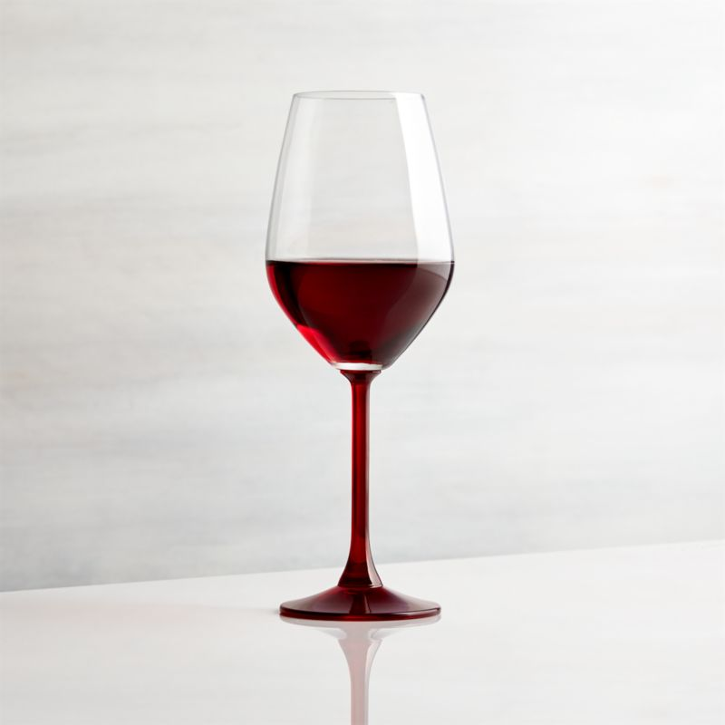 Red Stem Wine Glass