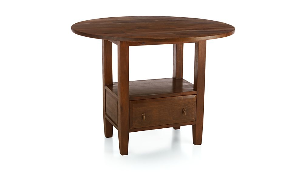 Basque Honey Round High Dining Table Crate And Barrel