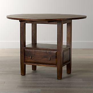 Basque Honey Round High Dining Table