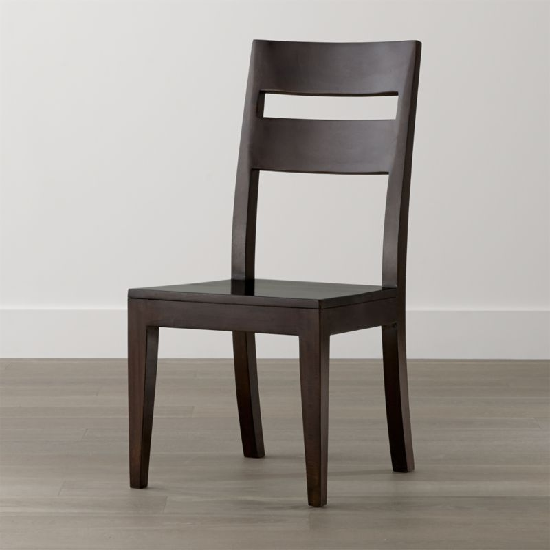 Crate And Barrel Dining Room Chairs: Basque Java Wood Dining Chair