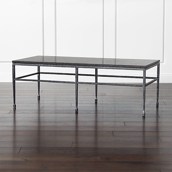 Crate And Barrel Black Marble Coffee Table: Bastille Granite Coffee Table