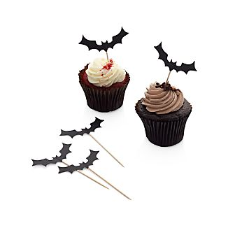 Set of 12 Bat Food/Cupcake Toppers