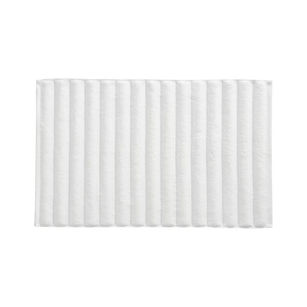White Bath Mat In Bath Rugs Crate And Barrel
