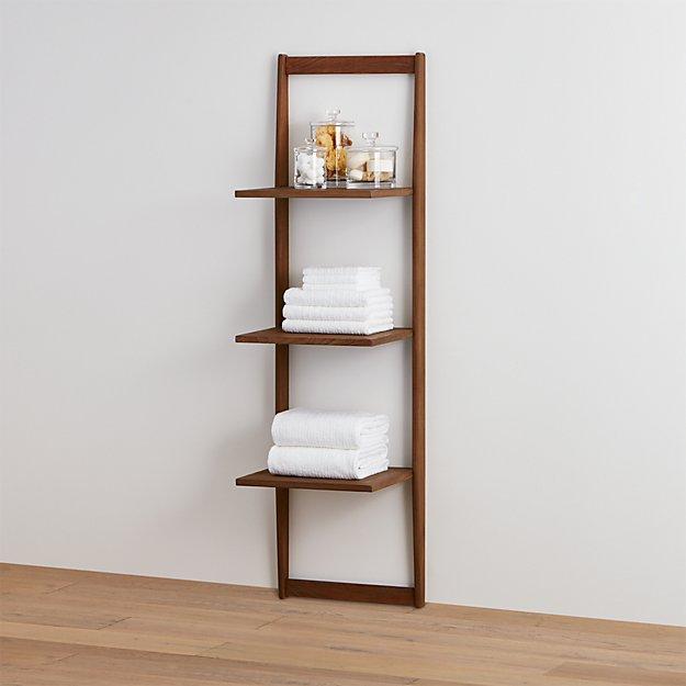 teak bathroom wall shelf 1