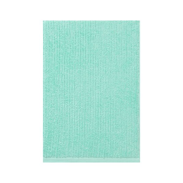 Ribbed Aqua Bath Towel