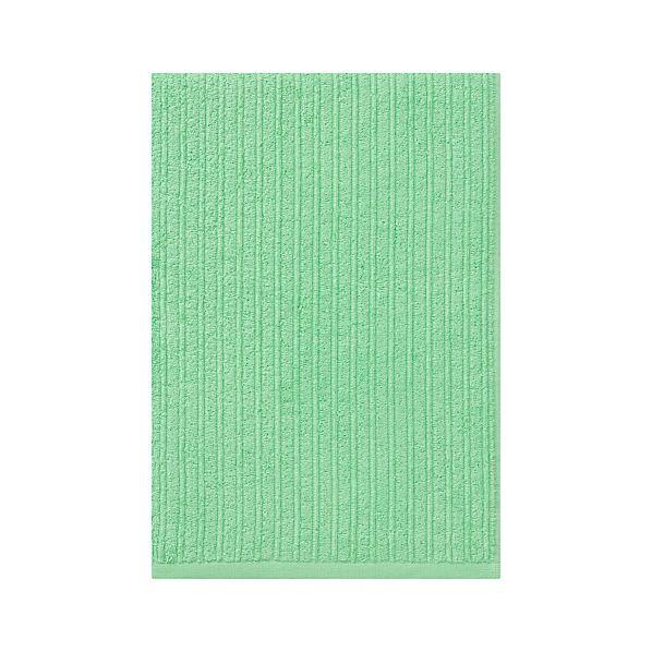 Ribbed Mint Bath Towel