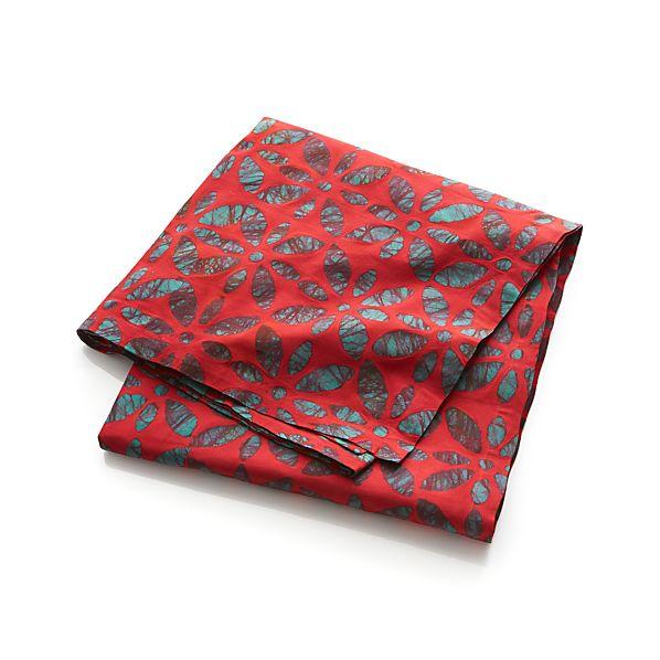 """Batik Floral 60""""x90"""" Tablecloth"""