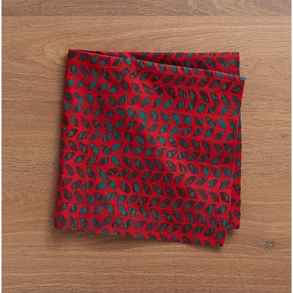 Batik Leaf Napkin