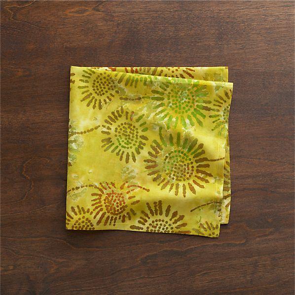 Batik Green Napkin