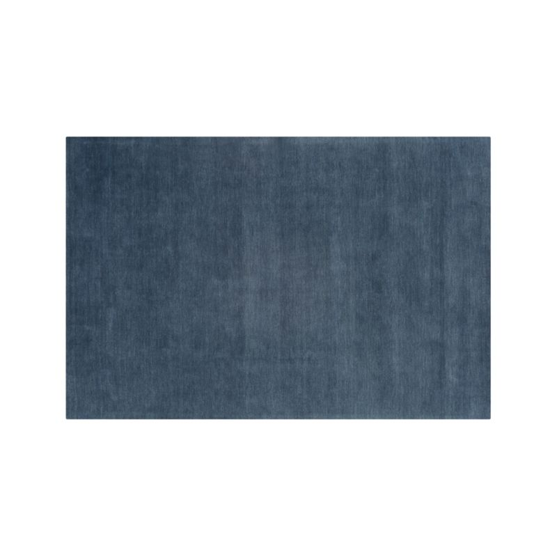 Baxter Blue Wool 10 X14 Rug Crate And Barrel