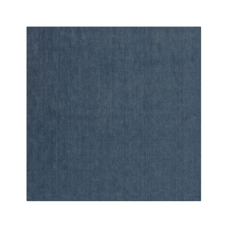 Baxter Blue Wool 8' sq. Rug
