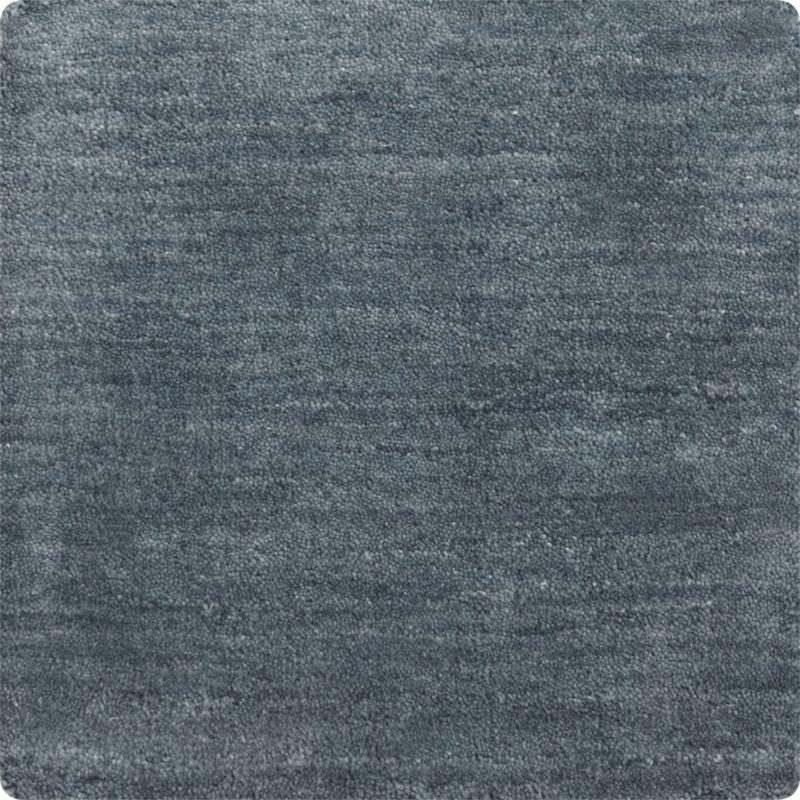 """Baxter Blue Wool 12"""" sq. Rug Swatch"""