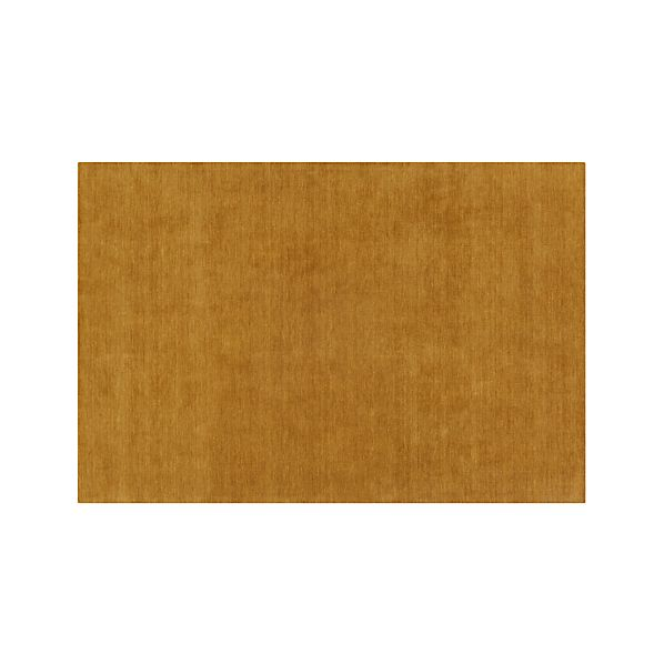 Baxter Gold Yellow Wool 5 X8 Rug In Rug Gallery Crate