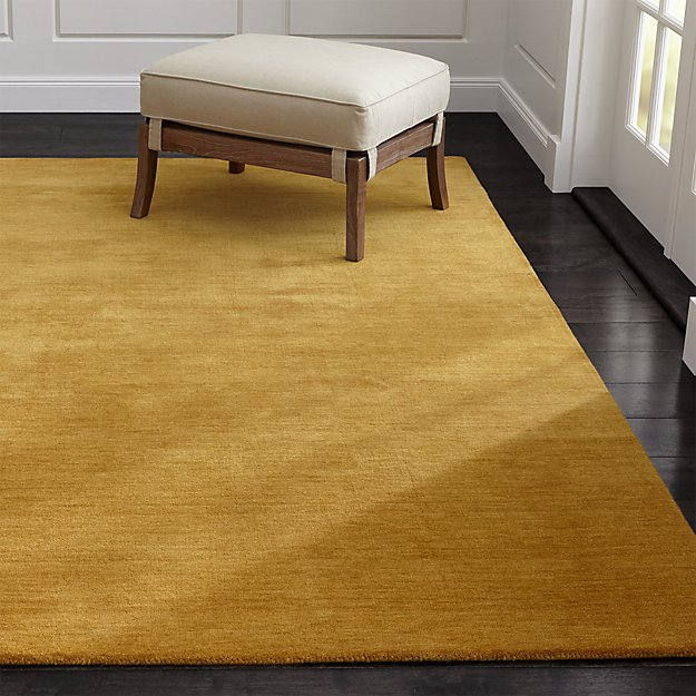 Baxter Gold Yellow Wool Rug Crate And Barrel