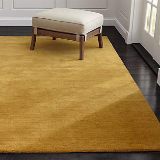 Baxter Gold Yellow Wool Rug